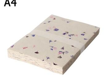 Petal Handmade paper A4 Pack of 20 sheets/ Nepal handmade paper.