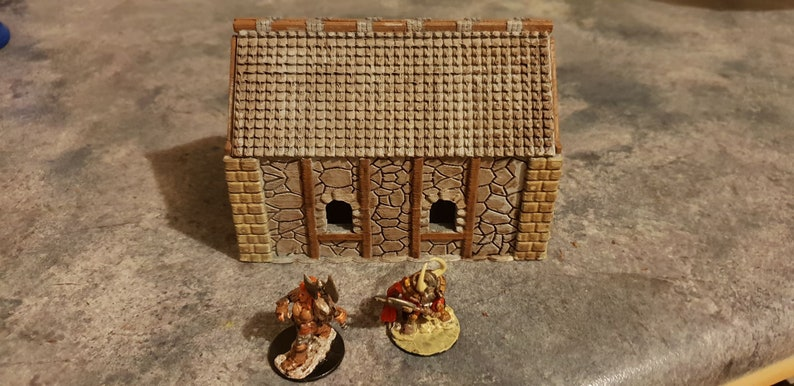 Fantasy cottage terrain/lotr/warhammer/dnd, terrain, wargaming, miniatures,  objectives