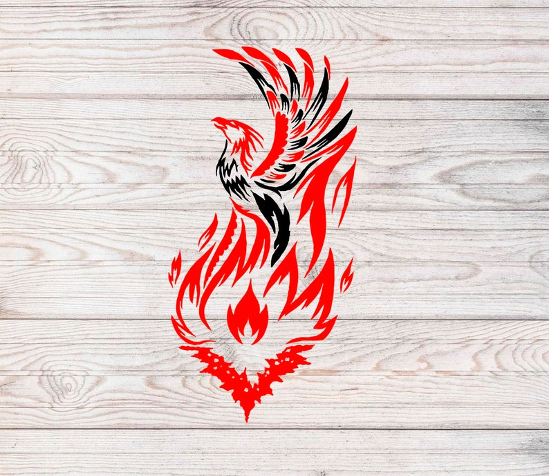 Phoenix,Flame,Fire svg,T-shirt,Home Decor svg,SVG Cutting File DXF PNG Eps for Cricut Design Space and Silhouette Studio