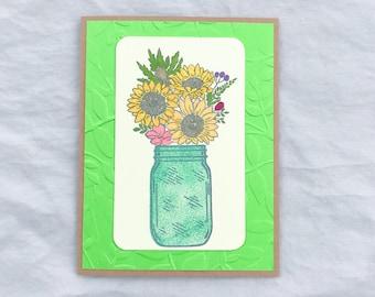 Sunflower Blank Card, Sunflower Cards, Sunflower Note Card, Sunflower Birthday Card, Sunflower Thank You Cards, Birthday Flower Card