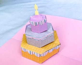 Pop Up Birthday Card, Pop Up Cake, Cake Card, Handmade Pop Up Cards, 3d Birthday Card, Candle Birthday Card, Birthday Card with Cake