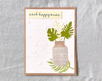New Home Cards Handmade, New Home Congrats, Housewarming Card, New Homeowner Card, Congrats New House Card, New Home Gift for Couple