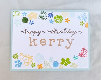 Personalized Birthday Card for Her, Birthday Card Name, Custom Birthday Card, Birthday Card Personalized, Happy Birthday Custom Card