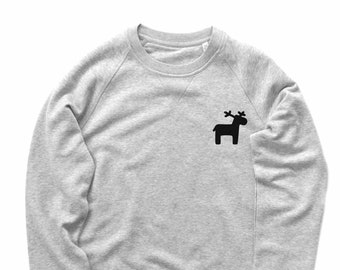 Hirsch Sweatshirt Cristmas Geschenk Sweatshirt Elch Pullover Unisex Pullover 8e2afa626e
