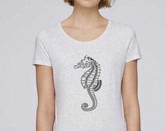 175665bc2f52 Sea Horse Shirt Animal T-shirts Sea Horse Tees Women