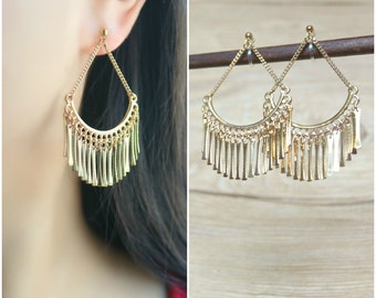 4390f1788 Chandelier invisible clip on earrings, non pierced earrings, clip on drop  earrings, clip on dangle earrings, clip on earrings, clip-ons