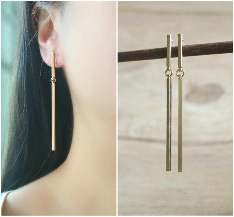 non pierced earrings Dangle bar resin clip on earrings resin clip on earrings clip-ons invisible clip on earrings clip on drop earrings