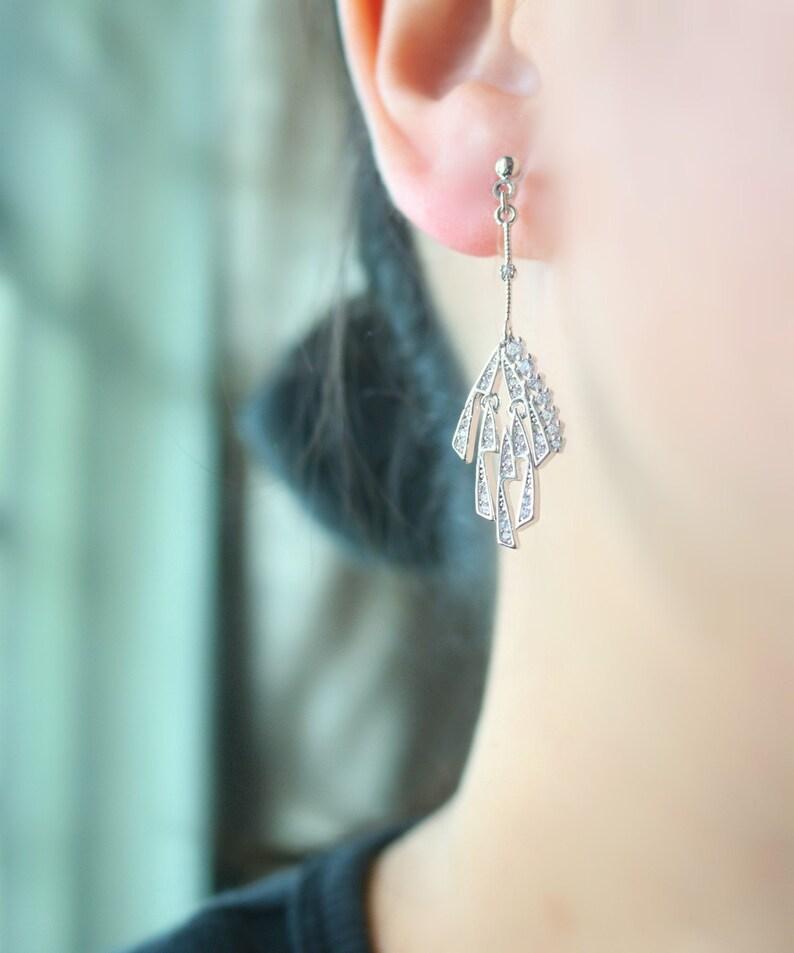 resin clip on earrings clip on earrings non pierced earrings invisible clip on earrings Falling firework CZ stone resin clip on earrings