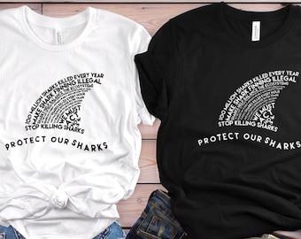 Protect Our Sharks Short-Sleeve Unisex Tee ⎮ Shark Conservation Shirt ⎮ Save The Ocean ⎮ Shark Lover Gift ⎮ Animal Activist Tshirt