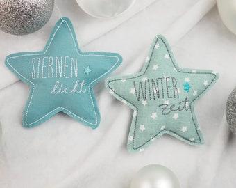 Decoration Christmas, Christmas decoration star, tree decorations, pendants, Christmas gifts, decoration made of fabric, Christmas tree, tree decoration set, mint