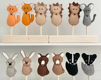 New Forest Friends mix and match puppets for Mimiki puppet theatre