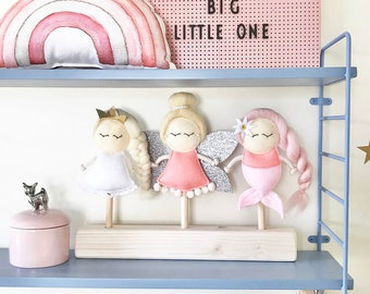 Limited Puppets Set Mermaid Fairy Princess for Mimiki puppet theatre
