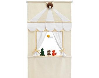 New Forest Friends puppet doorway theatre set by Mimiki