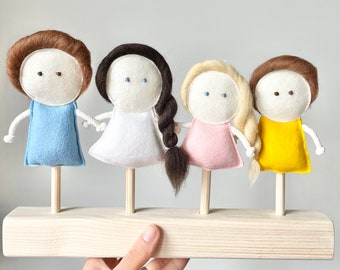 Custom Family puppets set for Mimiki puppet theatre
