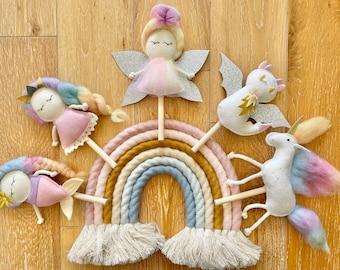 Mix and Match Fairy Unicorn Mermaid Princess Dragon for Mimiki puppet theatre