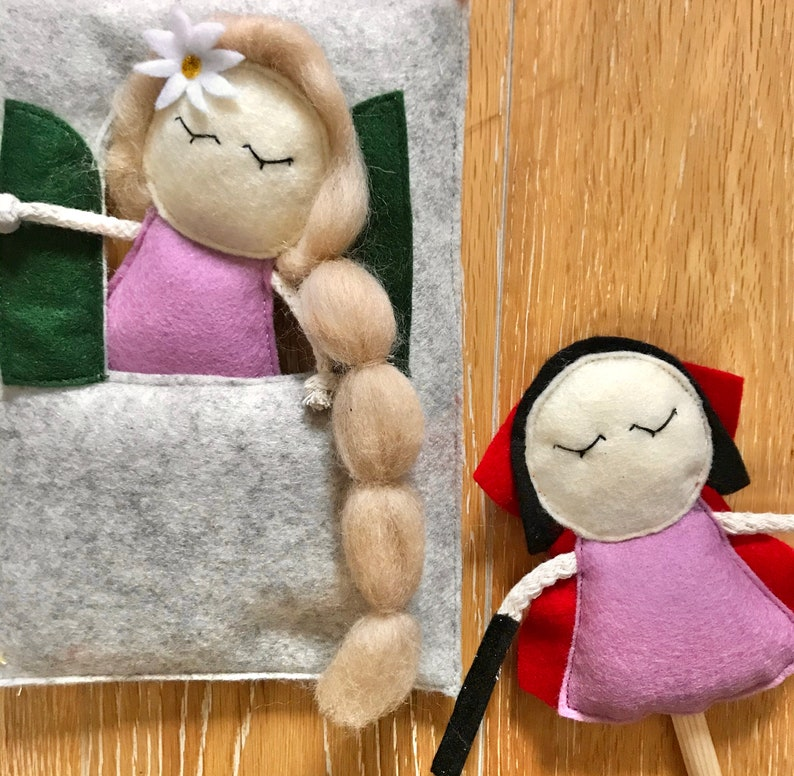 Rapunzel puppet for Mimiki puppet theatre