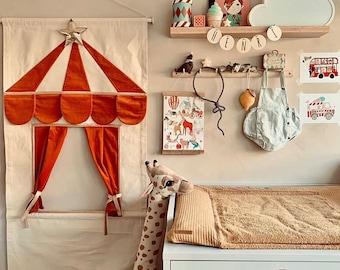 Rusty Orange puppet doorway theatre by MIMIKI