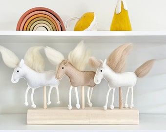 Mix and Match 3 horse set for MIMIKI puppet theatre