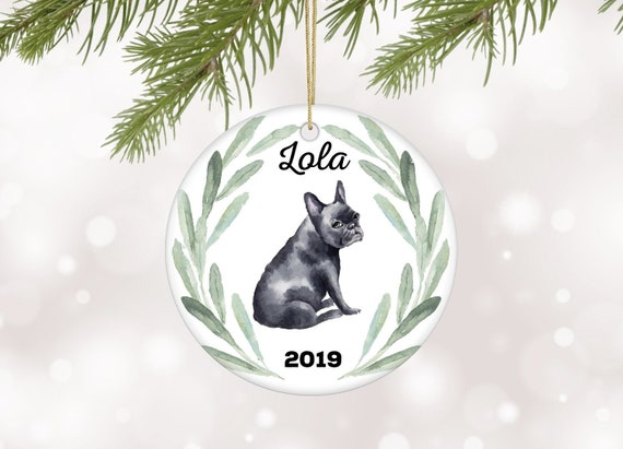 French Bulldog Christmas Ornament.French Bulldog Christmas Ornament Personalized Dog Ornament With French Bulldog Gift For Dog Owner Family Dog Ornament Bulldog Keepsake