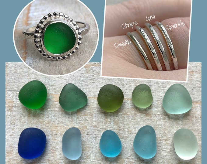 Featured listing image: Create Your Own Dainty English Sea Glass Ring