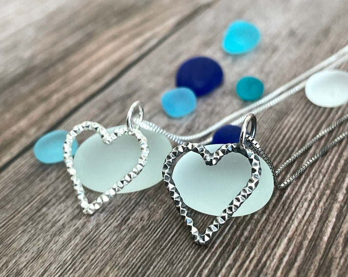Featured listing image: Sterling Silver Sparkling Heart Necklace