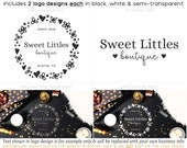 Simple Sweet Logo Set - 2 Coordinating Logos with Social Media Profile Images Web Print Watermark Files See Listing for Details