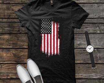 e7ec457a6a6 USA Flag T-shirt - USA Flag Shirt - American Flag Shirt - Us Flag Shirt -  4th Of July Shirt - Patriotic Shirt - American Flag - USA Shirt