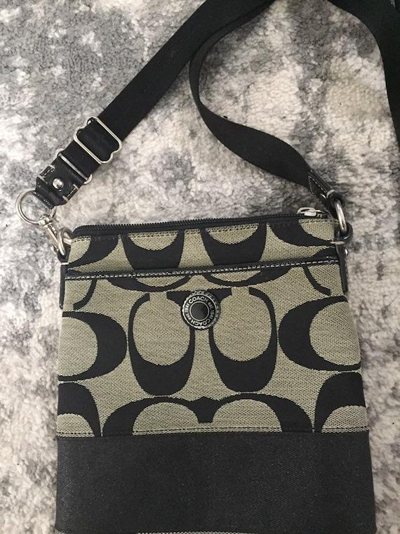 Coach crossbody bag, black, black coach purse, cro