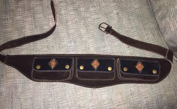 Suede leather festival tool belt, suede tool belt,