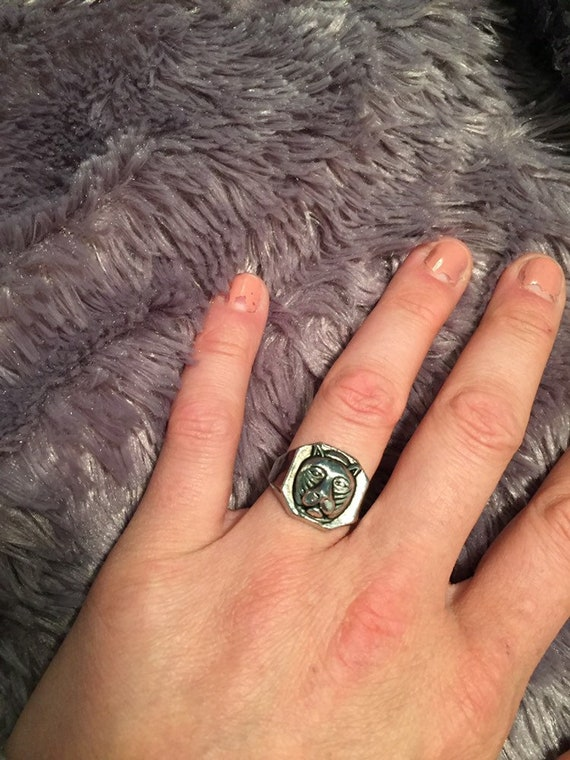 Panther Ring, Mens or Womens Ring, Silver Plated R