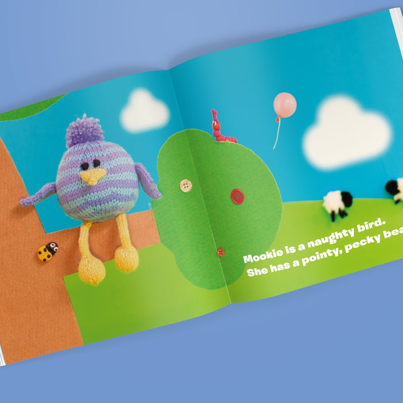Woolly Tales: Mookie the Bird  Picture book and Knitting image 0