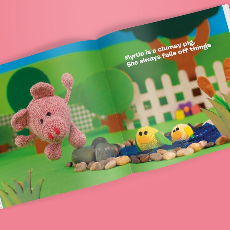 Woolly Tales: Myrtle the Pig  Picture book and Knitting image 0