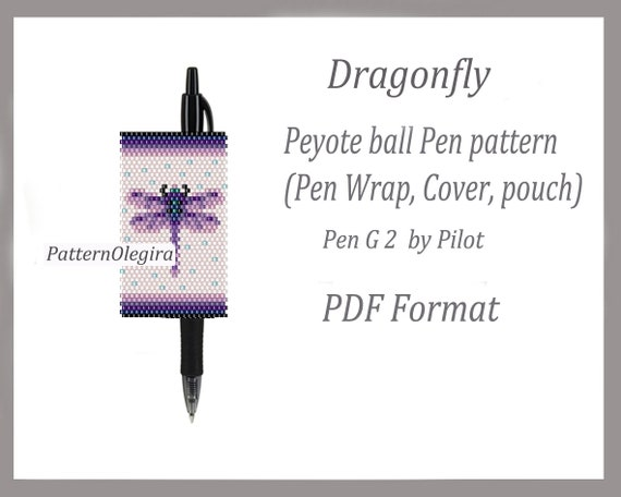 Peyote Mother/'s Day Pen Pattern Pen Wrap, Cover pen Beaded wrap Mother/'s Day pen wraps Delica bead Weaving Pattern Pen G2 Pilot Cover Pen