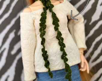 Off-Shoulder Sweater Sewing Pattern - 1/4 BJD (Slim minis: MNF, Model Delf, Narae, Withdoll)