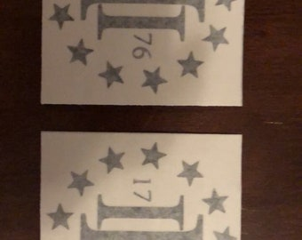 Oath Keeper Tattered Flag Down stars Right 3/% er Molon Labe Sticker