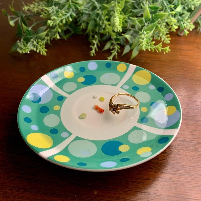 Polka Dot Ring Dish with Miniature Goldfish