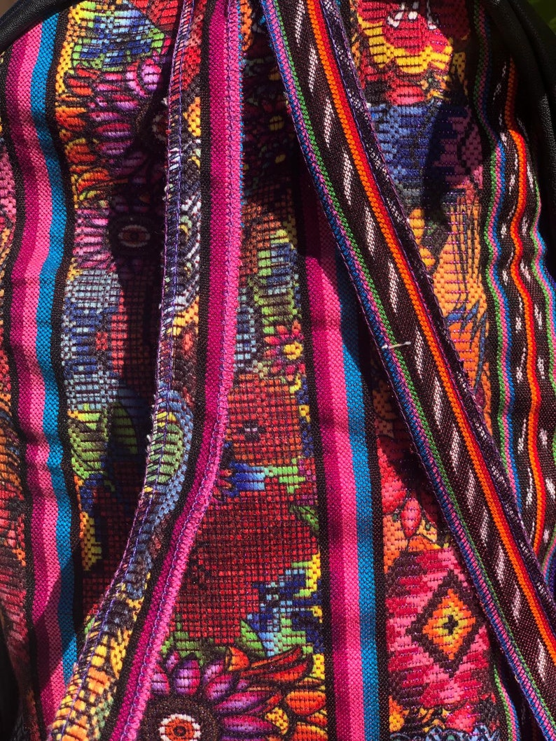 Noches De Atardecer Mini Backpack With Guatemalan Textile Fabric super especial 80.00 regular price 105.00