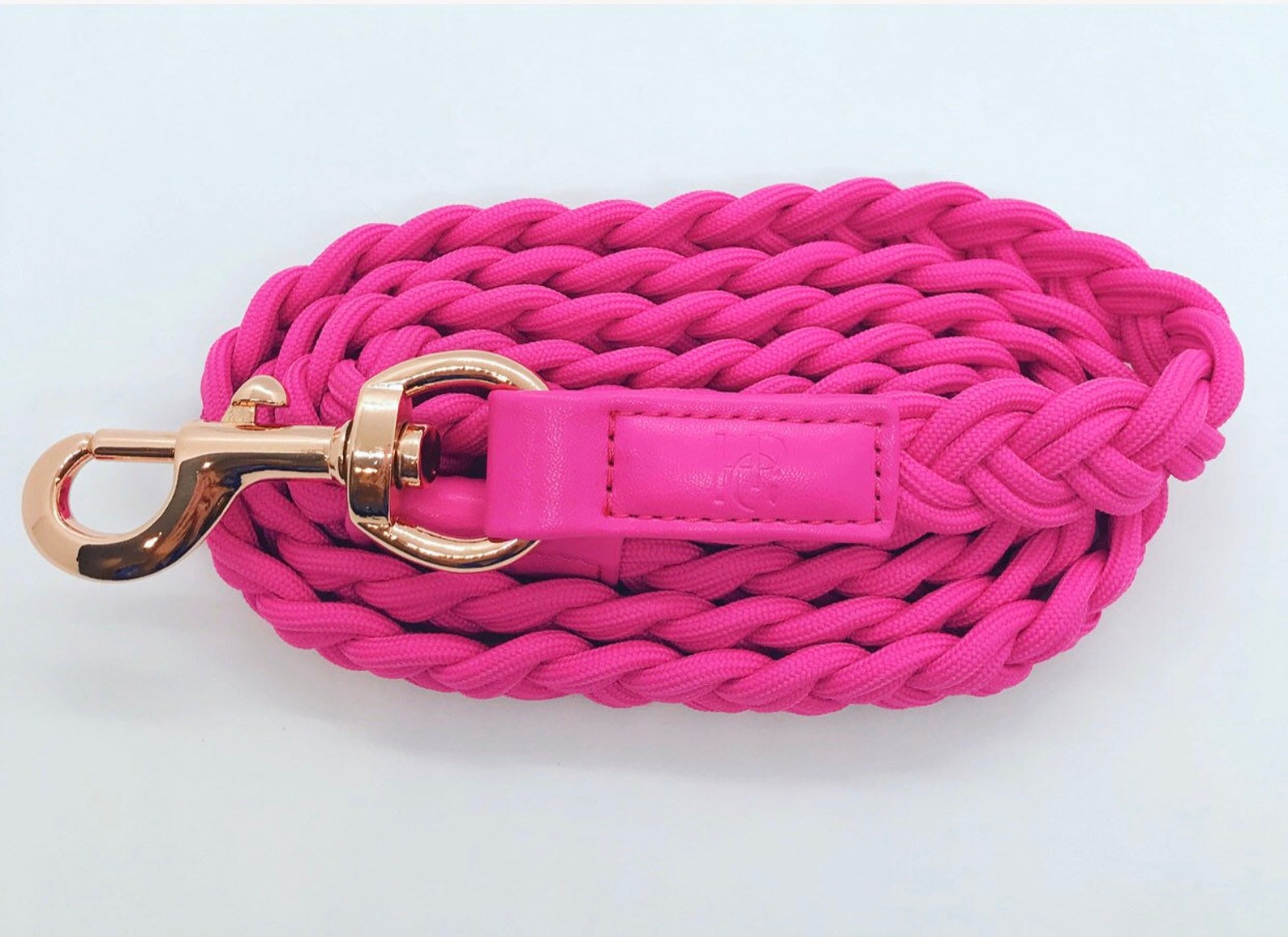 Lipstick pink dog leash