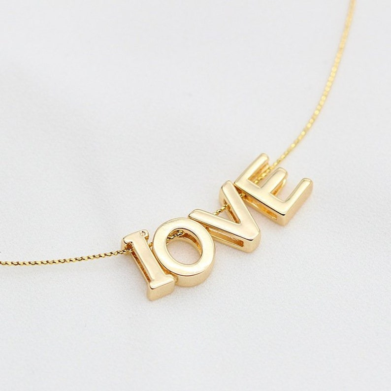 Initial Birthday Sister Capital letter Gold Necklace Upper case letter Jewelry Friendship Personalized Gift Mom