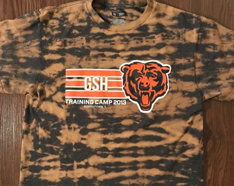 cf2bc2515 Chicago Bears GSH Training Camp 2013 - One of a Kind Tie Dye NFL Team Apparel  T-Shirt - Large - Grey