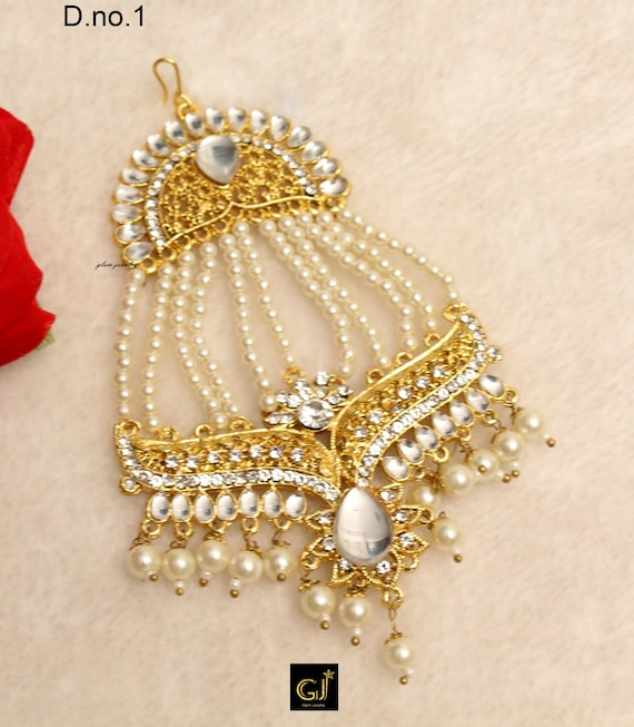 Headpasssa Jhumar Side Headpiece Wedding Jhoomer Bollywood Etsy