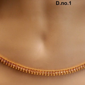 Body Chain Jewellery Sari Saari Chain Gold Polki Belly Waist Sari Saree Chain Jewelry Indian Kamarbandh Kamarband BeltBollywood