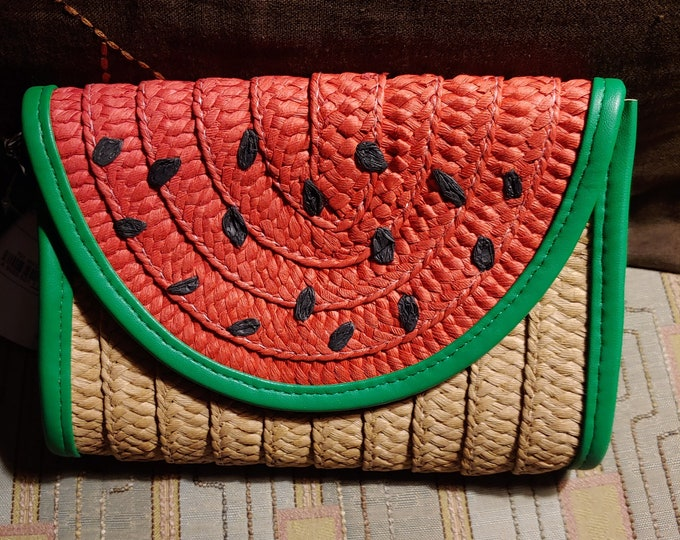 Watermelon Straw Purse