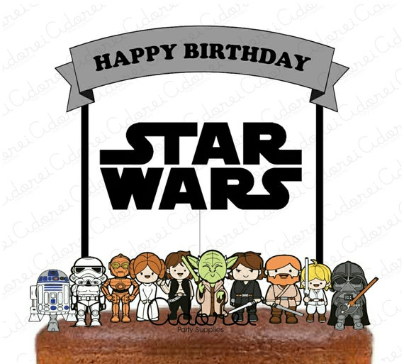 Awe Inspiring Star Wars Cake Topper Starwars Birthday Star Wars Birthday Etsy Funny Birthday Cards Online Bapapcheapnameinfo