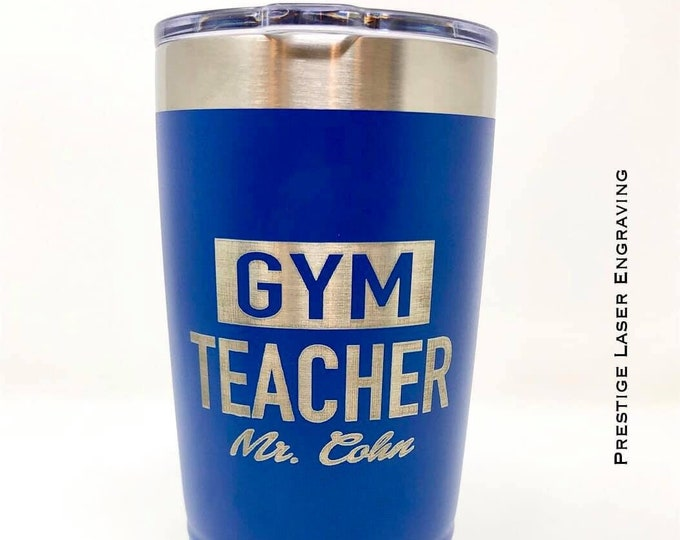 Gym Teacher 20 Ounce Polar Camel Powder Coated Tumbler
