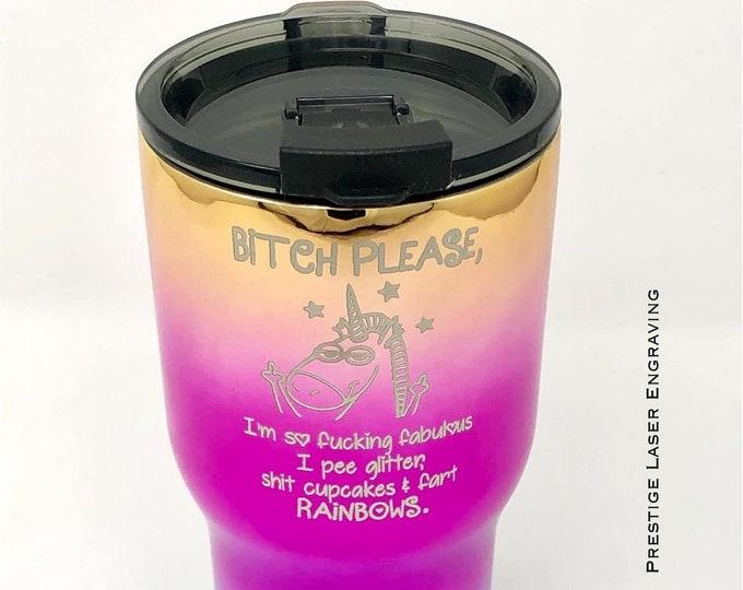 Funny Unicorn 20 Ounce RTIC Powder Coated Tumbler