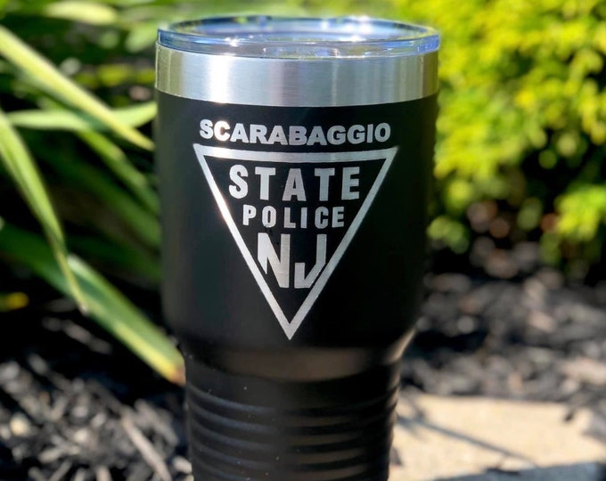 State Trooper 30 Ounce Polar Camel Powder Coated Tumbler