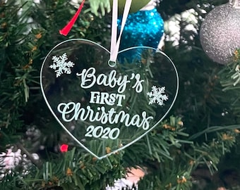 Baby's first Christmas Acrylic Ornament