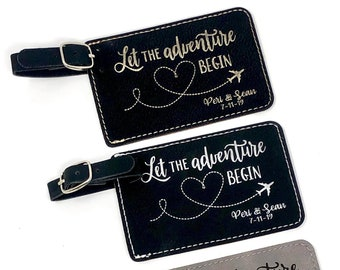 Leatherette Luggage Tags