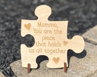 Mom Puzzle Piece Sign